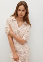MANGO - Dress donga - beige