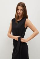 MANGO - Dress ferti - black