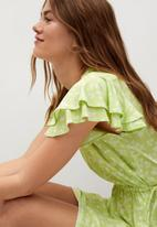 MANGO - Dress gala - light pastel green