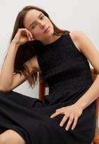 MANGO - Dress sandi - black