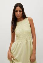 MANGO - Dress sandi - yellow
