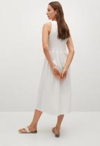 MANGO - Dress sandi - white