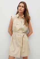 MANGO - Dress rita - beige