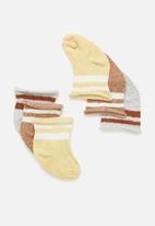 Cotton On - 3 Pack baby socks - multi