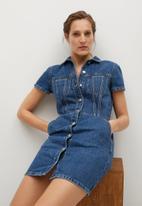 MANGO - Dress paty - blue