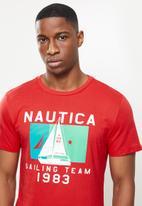 Nautica - Sailing boat flag tee - red