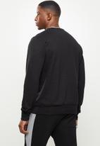 Original Penguin - Long sleeve sticker pete fleece sweat - black