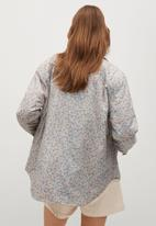 MANGO - Jacket heidi - blue & brown