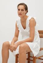 MANGO - Dress carile - white