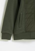 Aca Joe - Big-boys zip thru bonded jacket - olive