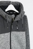 Aca Joe - Big-boys zip thru bonded jacket - grey
