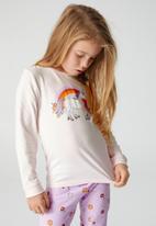 Cotton On - Florence long sleeve pyjama set - roller unicorn pale violet