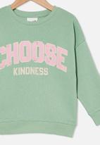Cotton On - Sage crew - smashed avo / choose kindness