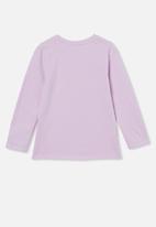 Cotton On - Penelope long sleeve tee - pale violet / unicorn floral