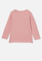 Cotton On - Penelope long sleeve tee - musk rose / flower child