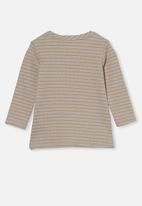 Cotton On - David long sleeve top - rainy day/vintage honey