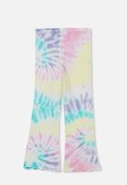 Cotton On - Francine flare pant - pastel spiral rainbow tie dye