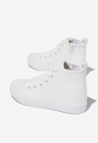 Cotton On - Classic high top trainer v - white