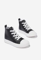 Cotton On - Classic high top trainer v - black