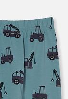 Cotton On - The legging - rusty aqua/tradie trucks