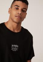 Factorie - Regular graphic t shirt - black white