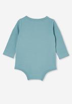 Cotton On - The long sleeve bubbysuit lcn - lcn mt rusty aqua/graffiti biggie face