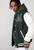 Factorie - Varsity jacket - michigan evergreen