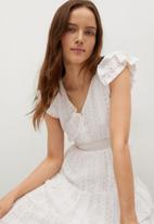 MANGO - Dress madelen - white