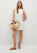 MANGO - Dress petra - white