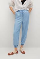 MANGO - Trousers nicky - blue