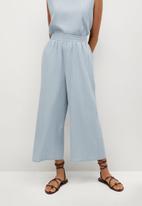 MANGO - Trousers leonor - blue