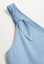 MANGO - One-piecesuit marble - blue