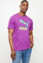 PUMA - Graphic tee logo play - purple