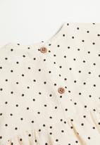 MANGO - Topito long sleeve blouse - off white