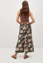 MANGO - Trouser slula - green