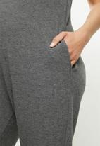Superbalist - Soft slim leg jumpsuit - charcoal