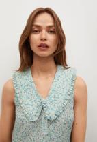 MANGO - Dress collar - green