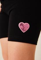 Flyersunion - 2 pack biker short - black & pink