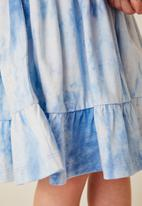 Flyersunion - Tiered frill dress - blue