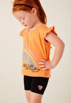 Flyersunion - Frill fashion tee - orange