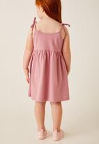 Flyersunion - Strappy shoulder tie dress - pink