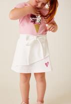 Flyersunion - Sequin ice-cream fashion tee - pink