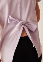 Flyersunion - Frill fashion tee  - lilac