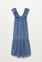 MANGO - Dress sunny - medium blue
