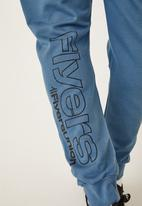 Flyersunion - Panel jogger - denim blue