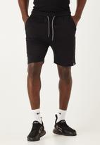 Flyersunion - Fleece knit short - black
