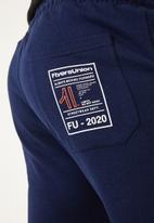 Flyersunion - Fleece knit short - navy