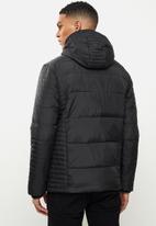 Aca Joe - Aca joe zip thru hooded jacket - black