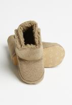 POP CANDY - Baby snuggle booties - brown