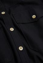 MANGO - Shirt tana - black